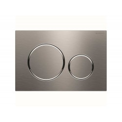 Geberit Actuator Plate Sigma 20 Dual Flush - Brushed and Polished Stainless Steel