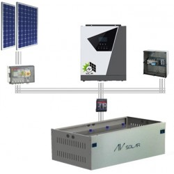 3KVA Solar Residential Off Grid System Complete
