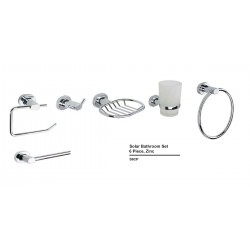 Solar Bathroom Set 6 Piece Zinc S6CP