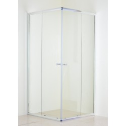 Chrome Corner Entry Shower Enclosure 900mm x 900mm