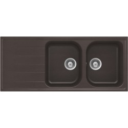 Frasa Grace 80 D StoneSilk Kitchen Sink - Mocha