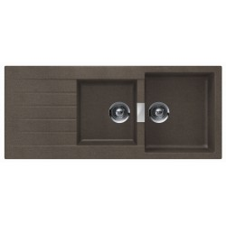 Frasa Latoya 80 UDM StoneSilk SP Kitchen Sink - Bronze