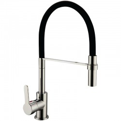 Sulby Sink Mixer High Rise Black Silicon